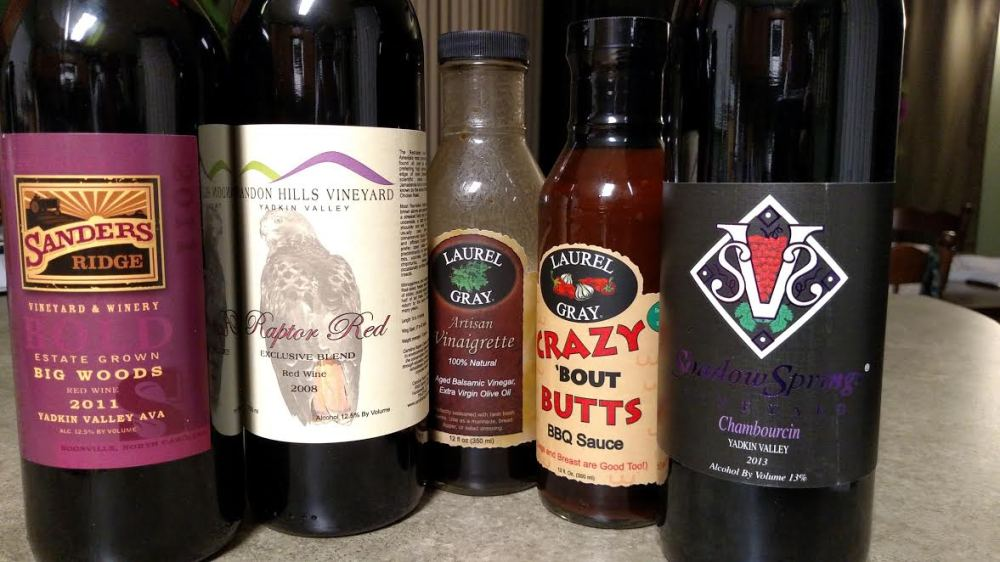 wines and sauce